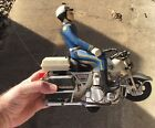 Vintage Tandy Toy Motorcycle With Police Man, Early Remote Control