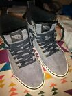 Vans Off the Wall Sneakers Gray Suede High Tops Mens 55 Womens 7 Scotchgard