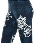 Christmas Snowflake Super Cute Buttery Soft Leggings Plus Size 10 18