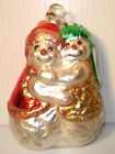 45 Tall Blown Glass Hugging Loving Snowman Couple Christmas Ornament Melrose