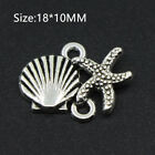 15PCS Tibetan Silver Starfish Charms Pendant DIY Necklace Crafts Jewelry 1810MM