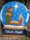 Christmas HOLY NATIVITY Painted Wooden Standing Sign Indoor or Outdoor 46x34