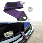Universal Purple High Strength Racing Front Rear Bumper Tow Hook Towing Strap