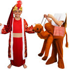 CHILDS KIDS NATIVITY KING RIDE ON CAMEL COSTUME WISE MAN FANCY DRESS BALTHAZAR