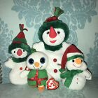 Ty Beanie Babies Retired Christmas Snowman Lady Lot of 4 Snowgirl Melton Shivers