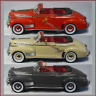THREE Welly 1941 Chevy Special Deluxe 124 scale diecast cars RED TAN BLACK