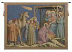 Adoration by Giotto Italian Religious Nativity Woven Tapestry Wall Hanging