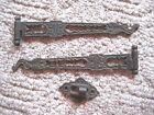 2 Antique Vintage Victorian Ornate Cast Iron Swing Arm Curtain Rods