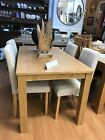 dining table and chairs  ex display kitchen table and 4 chairs