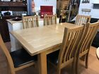 solid oak dining table and chairs  ex display kitchen table  chairs extending