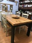 solid oak dining table and chairs  ex display kitchen table  chairs