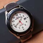 Men's Timex Expedition Indiglo 100M WR Quartz Watch Light Date Canvas/Leather