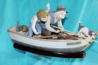 LLADRO FIGURINE FISHING w GRAMPS MOTHERHOOD AND FAMILIES #01005215/5215 SPAIN