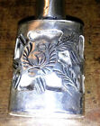 Perfume Bottle w/ Sterling Silver Overlay Floral Etched