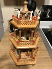 Vintage Weihnachts Pyramide German Christmas Nativity 3 Tier Windmill Wood 18