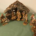 Vintage Fontanini 14 Piece Nativity Set Marked Depose Italy all 5