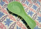 Jadeite Green Glass Strawberry Spoon Rest in Excellent Condition