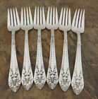 IS Marquise Set of 6 Salad Forks 1847 Rogers Silverplate Flatware Lot A