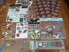 Mixed lot of Scrapbook Stickers All Foot Ball Real Life Paper House Soft Spoken