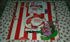 Vintage Tie Tie Christmas Santa Wrapping Paper With Gift Tag NIP