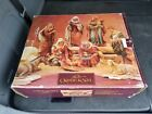 Vintage GRANDEUR NOEL Collectible HAND PAINTED 9 Piece antique finish nativity