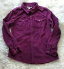 RUFF HEWN Button Down Raspberry Pink Red Corduroy 100 Cotton Shirt Medium