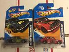 LOT OF 2 HOT WHEELS DATSUN BLUEBIRD 510 FASTER THAN EVER red and grey Blue
