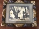 Antique Tramp Art Frame With photo 15x12 Inches