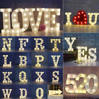 A Z Alphabet LED Letter Lights Light Up White Plastic Letters Standing Hanging