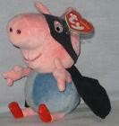 TY GEORGE SUPERHERO BEANIE BABY (UK EXCLUSIVE - PEPPA PIG) -  MINT TAGS