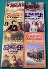 Lot of 4 Stagecoach Station by Hank Mitchum Western Paperback Books