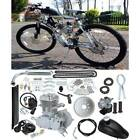 Silver 50cc 2 Stroke Petrol Engine Motor Kit Fits Cycle Motorized Bike Bicycle