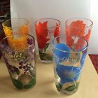 5-Vintage,swanky Swigs,Boscul Glasses/ floral tumblers ,unused Condition