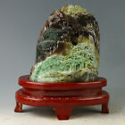 China Exquisite Hand-carved Natural landscape carving Dushan jade statue  YY089