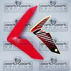 HONDA CRF CRF250 CRF250M -F FRONT LEFT FAIRING PANEL + DECAL RED 2012 - 2017