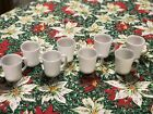 8 VINTAGE FIRE KING OVEN WARE WHITE MILK GLASS COFFEE CUPS MUGS