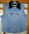 Vintage Zana Di Jean Vest Womens Large Criss Cross Open Back Cropped