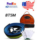 5M 8 Ton Car Tow Cable Tow Rope Emergency Heavy Duty Road Recovery Straps US