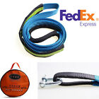 US Shipping 5M 8 Ton Car Trailer Tow Nylon Cable Tow Rope Load Straps with Hook