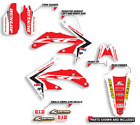 2005 2006 2007 HONDA CRF 450X GRAPHICS KIT DECALS MOTOCROSS DECALS RED DESIGN