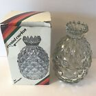 Vintage PINEAPPLE Crystal Curios Jeannette 2732C Candy Dish Covered Bowl Fruit