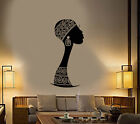 Vinyl Wall Decal African Native Turban Girl Silhouette Stickers 3316ig