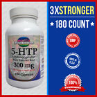 5-HTP 300mg Max 3x Stronger w/Val Root 180 Caps Weight Loss Mood Serotonin - USA