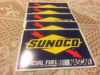 SUNOCO OFFICIAL FUEL OF NASCAR RACING DECALS STICKERS Lot 5