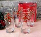 Ribbons Christmas Drinking Glasses (4) Anchor Hocking