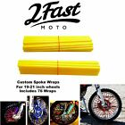 2FastMoto Spoke Wrap Kit Golden Yellow Wraps Custom Spokes Wheels Suzuki