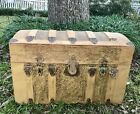 •Circa Late 1800's•Wood Dome Top Travel Trunk•Chest•Child Toy Box•Vintage