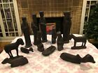 Unbelievable Hand Carved African 12 piece Nativity Set W Amazing Detailed Pieces