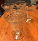 VINTAGE ICE CREAM SUNDAE SODA FOUNTAIN FLOAT PARFAIT MILK SHAKE GLASSES Qty 5