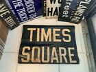 NYC SUBWAY SIGN TIMES SQUARE 42ND STREET MANHATTAN 1962 IRT DIV R29 NY ROLL SIGN
